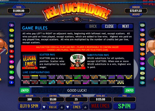 Casino Codes image of El Luchador