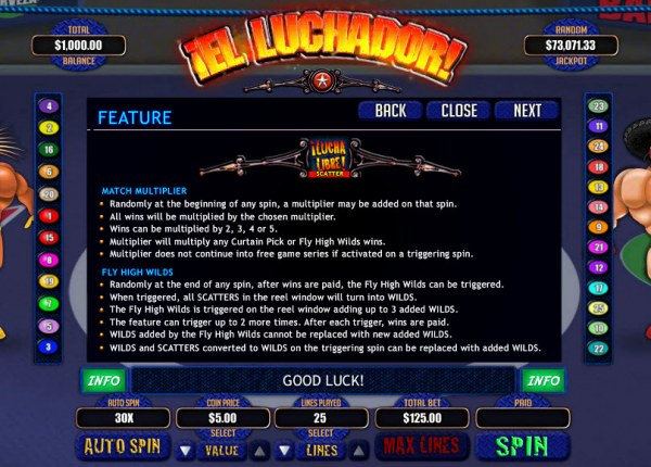 Feature Rules - Casino Codes