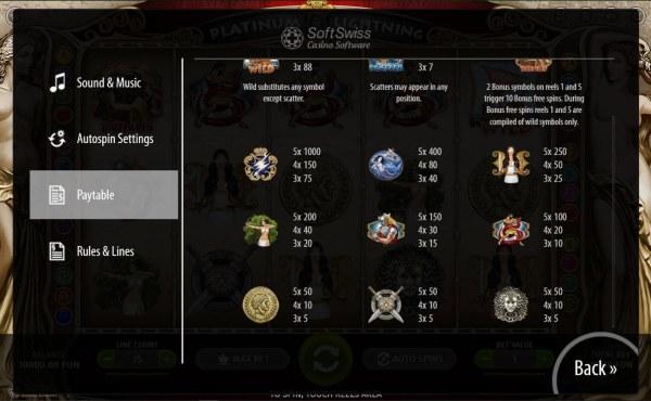 Platinum Lightning by Casino Codes