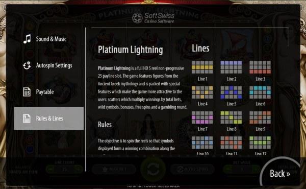 Platinum Lightning screenshot