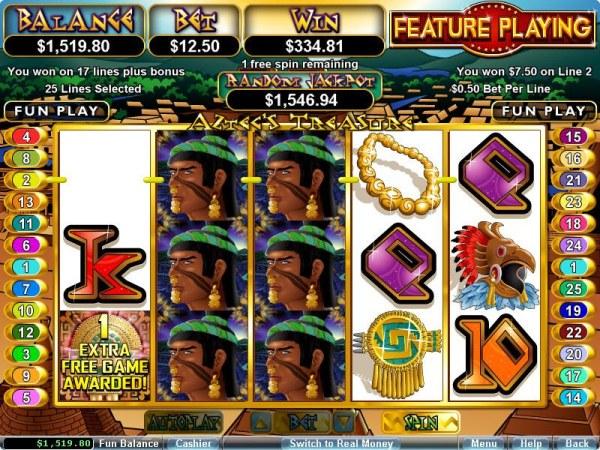 Casino Codes image of Aztec's Treasure Feature Guarantee