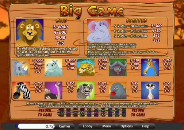 Big Game by Casino Codes