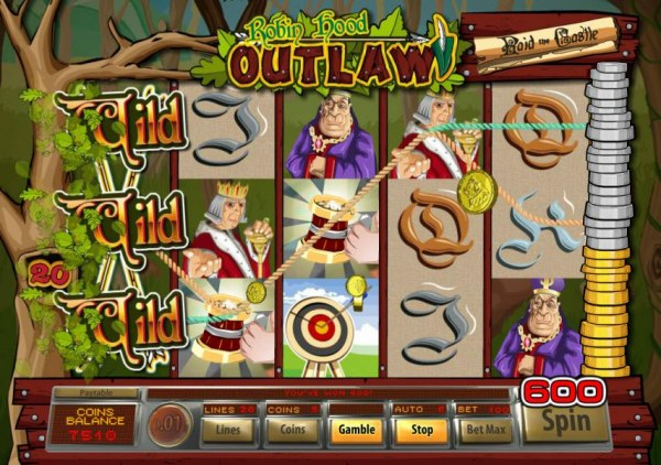 Casino Codes - Stacked wilds on 1st reel triggers a 600 big win.