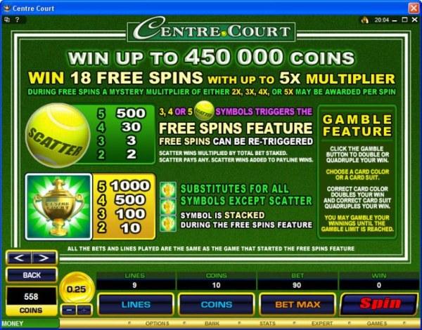 Casino Codes image of Centre Court