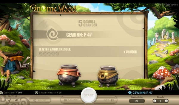 Casino Codes - Gamble Feature - To gamble any win press Gamble then select Left Kettle or Right Kettle
