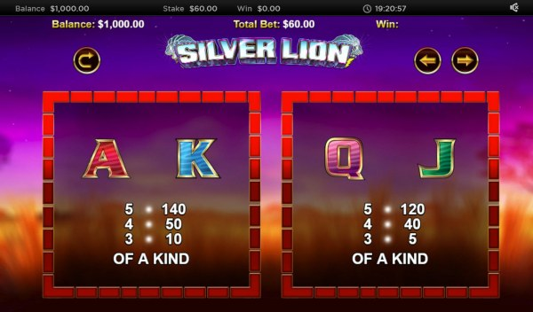 Stellar Jackpot with Silver Lion by Casino Codes