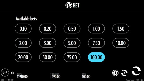 Available Bets - Casino Codes