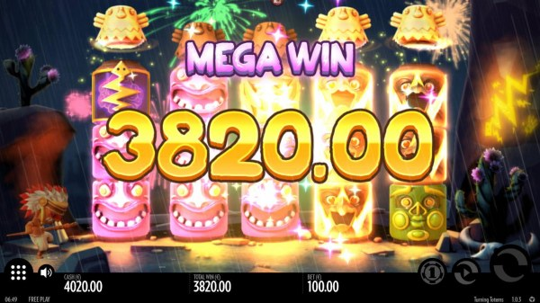 Thunder Reels trigger multiple winning paylines and pays out a 3820.00 jackpot. - Casino Codes
