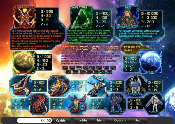 Casino Codes image of Worlds at War