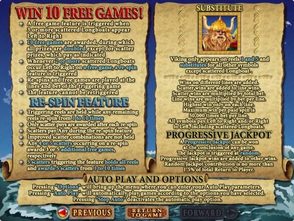 Casino Codes image of Viking's Voyage