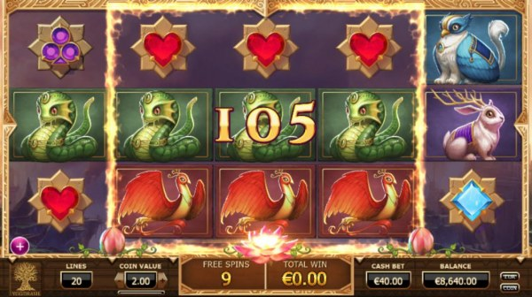 Playing the Mega Reel feature during the free spins triggers a big win - Casino Codes