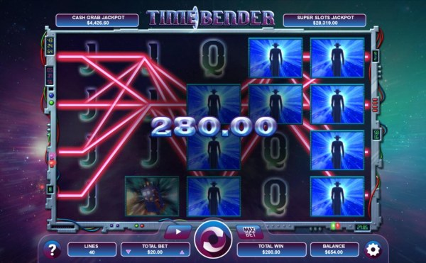 Casino Codes - Time traveler symbols triggers a 280.00 jackpot awarded player