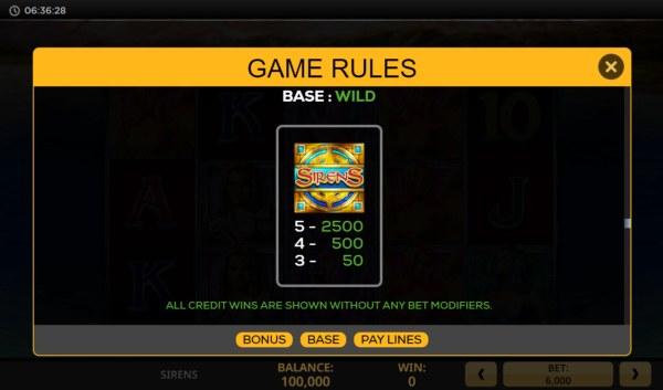 Casino Codes image of Sirens