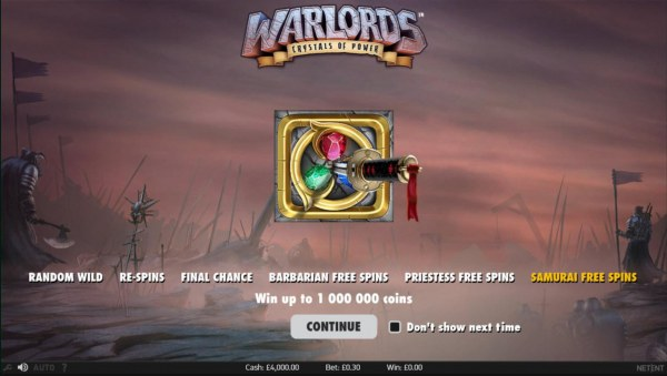 Casino Codes image of Warlords Crystals of Power