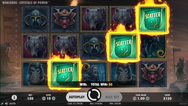 Three scatter symbols initiates the Bonus Game. - Casino Codes