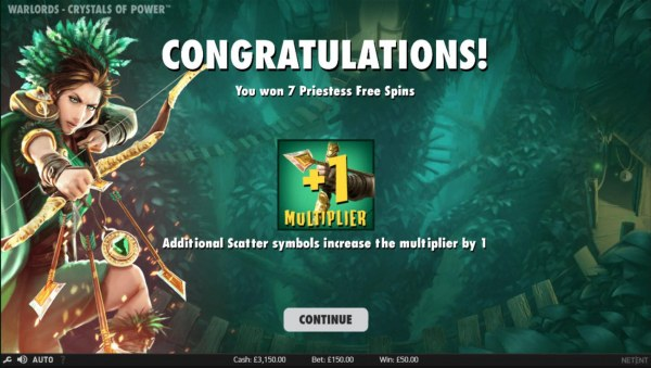Casino Codes - 7 free spins awarded.