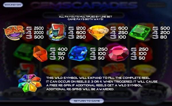 Casino Codes image of Gemscapades