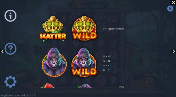 King Koko's Quest by Casino Codes