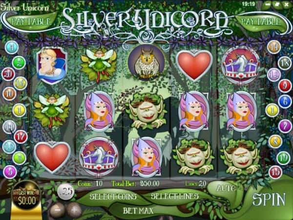 Silver Unicorn by Casino Codes
