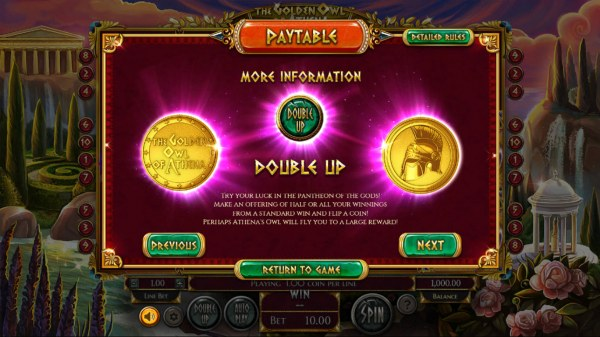 Casino Codes - Heads of Tails Double Up Game