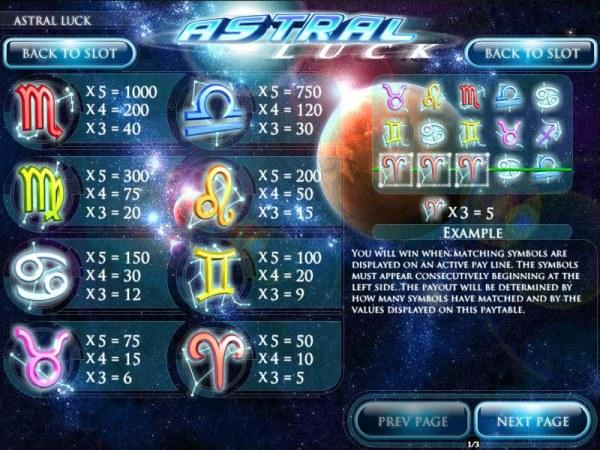 Astral Luck screenshot