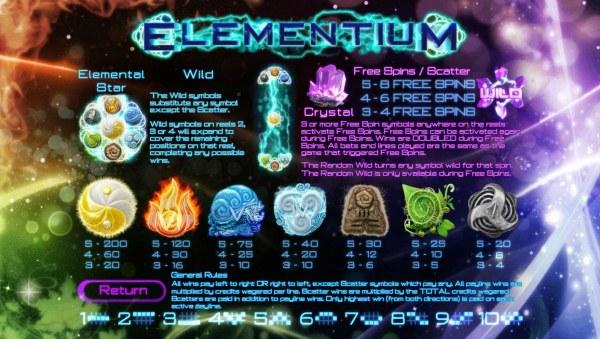 Casino Codes image of Elementium