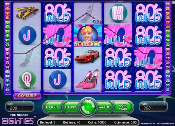 Super Eighties by Casino Codes