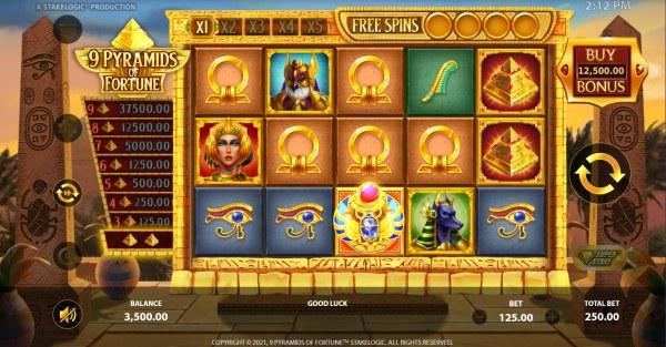 Casino Codes image of 9 Pyramids of Fortune