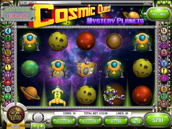 Cosmic Quest Mystery Planets by Casino Codes
