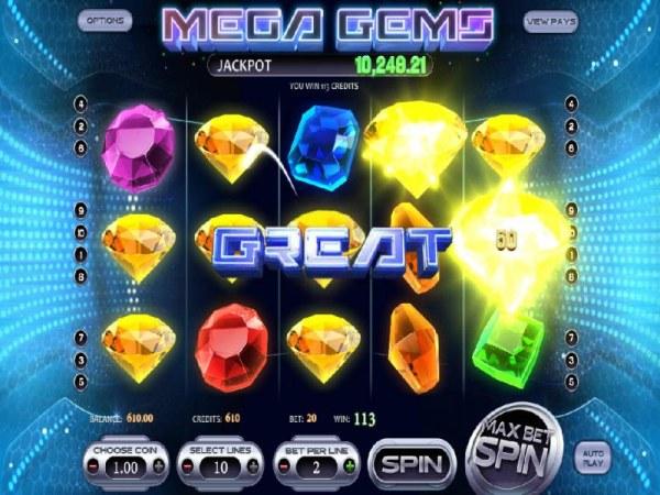 Mega Gems by Casino Codes
