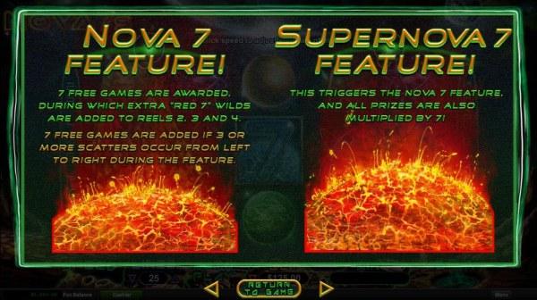 Nova 7 and Supernova 7 Free Games Rules - Casino Codes