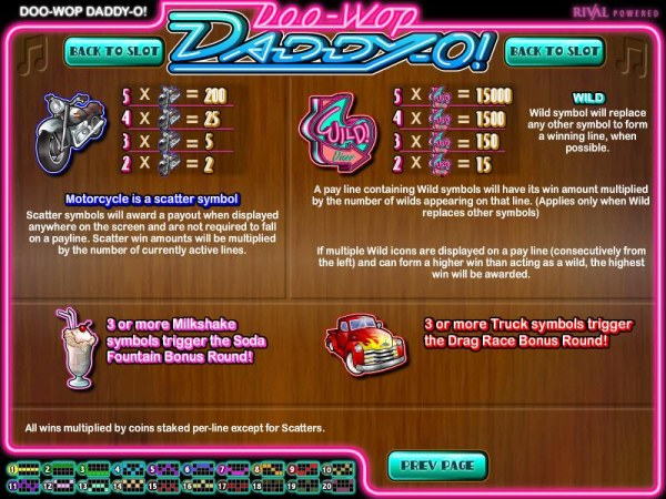 Doo-Wop Daddy-O by Casino Codes