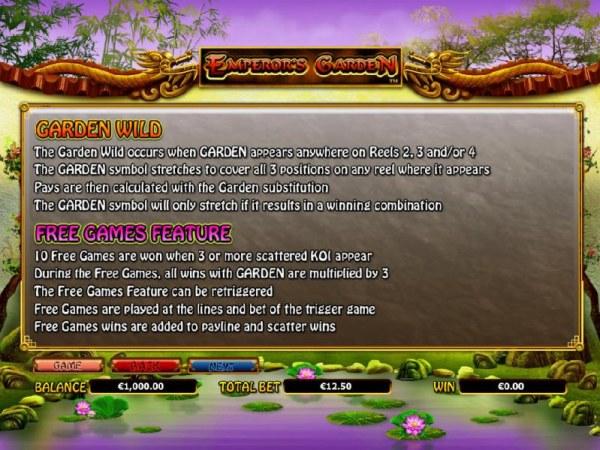 Casino Codes image of Emperor's Garden