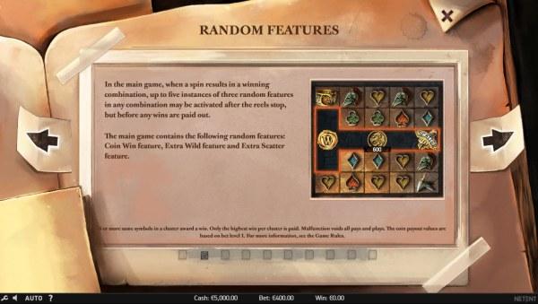 Casino Codes - Random Features