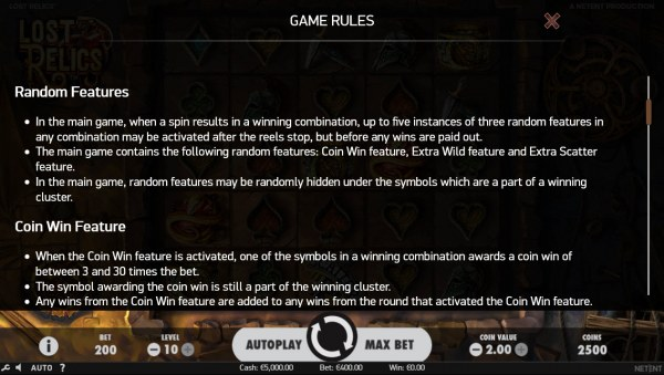 Lost Relics by Casino Codes