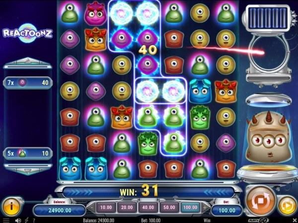 Casino Codes image of Reactoonz
