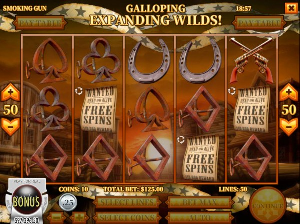 Scatter symbols triggers the free spins feature by Casino Codes
