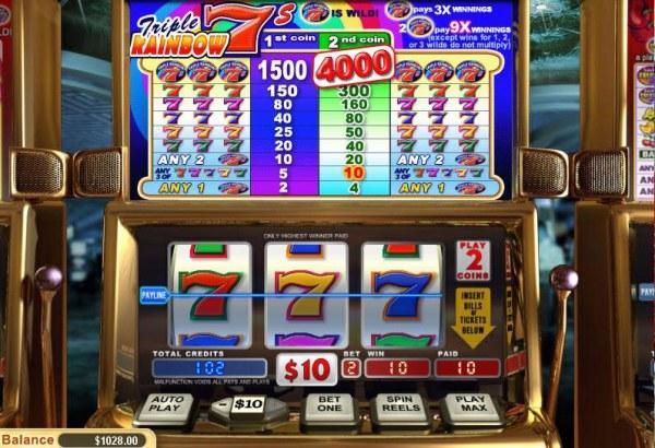 Casino Codes image of Triple Rainbow 7's