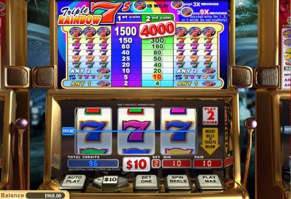Triple Rainbow 7's by Casino Codes