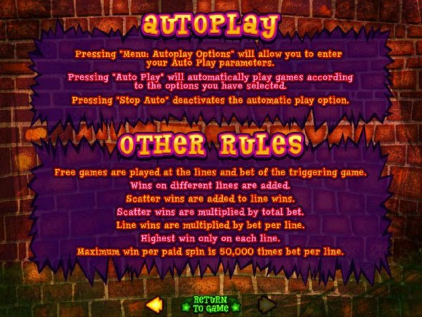 Auotplay and other rules. by Casino Codes