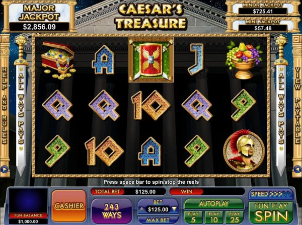 Caesar's Treasure by Casino Codes