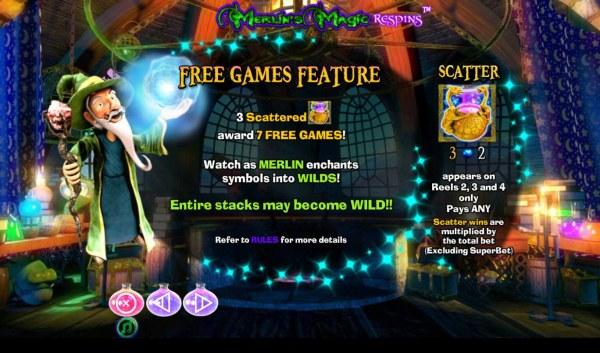 Merlin's Magic Respins screenshot