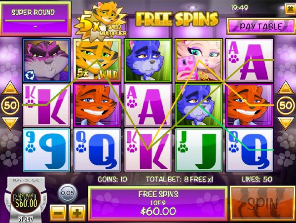 Multiple winning paylines triggered during the Free Spins feature. - Casino Codes