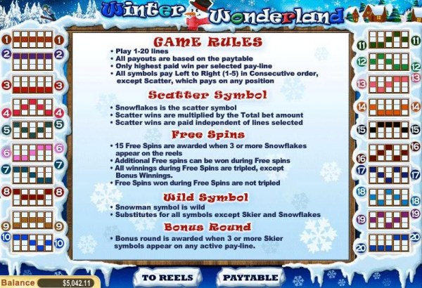 Casino Codes image of Winter Wonderland