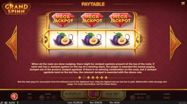 Casino Codes image of Grand Spinn
