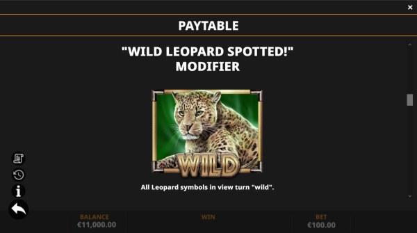 Wild Leopard Spotted Modifier - Casino Codes
