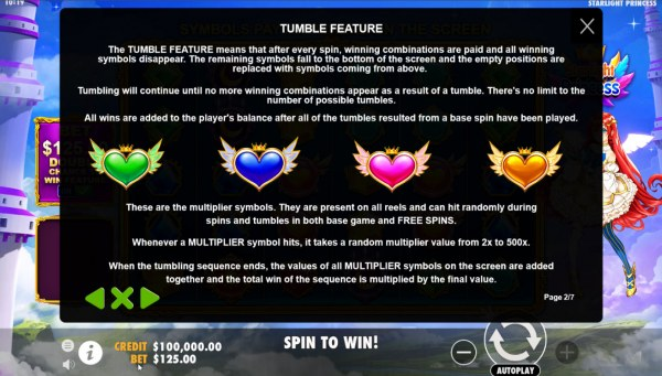 Starlight Princess by Casino Codes