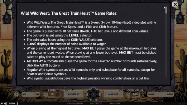Wild Wild West The Great Train Heist by Casino Codes