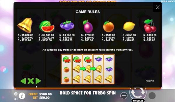 Casino Codes image of Extra Juicy