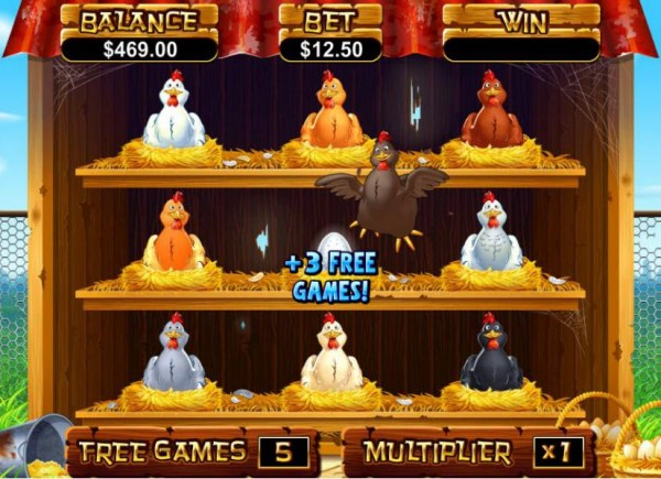Casino Codes - an additional 3 free games awarded